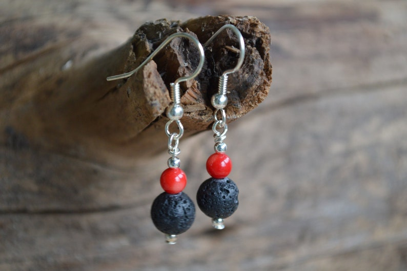 Red Coral Diffuser Earrings