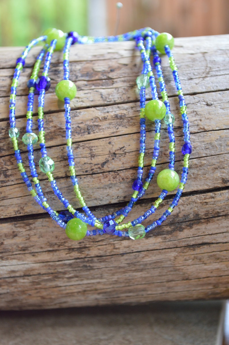 Seattle Seahawks Necklace//Team Shop//Seahawks Fan Necklace//Team Spirit  Necklace//Seahawk Spirit//Blue and Green Necklace