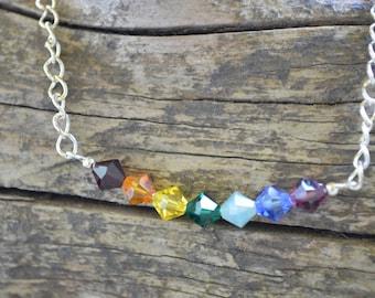 Swarovski Crystal Chakra Necklace