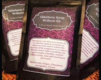 Elderberry Syrup Wellness Kit (A Moon Magick Herbs Blend)