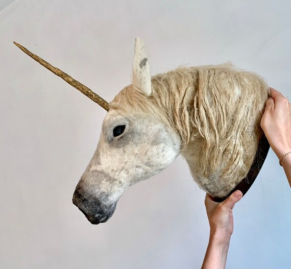 Unicorn Taxidermy Sculpture