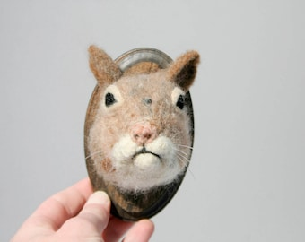 Wool Faux Taxidermy Squirrel (Sciuridae)
