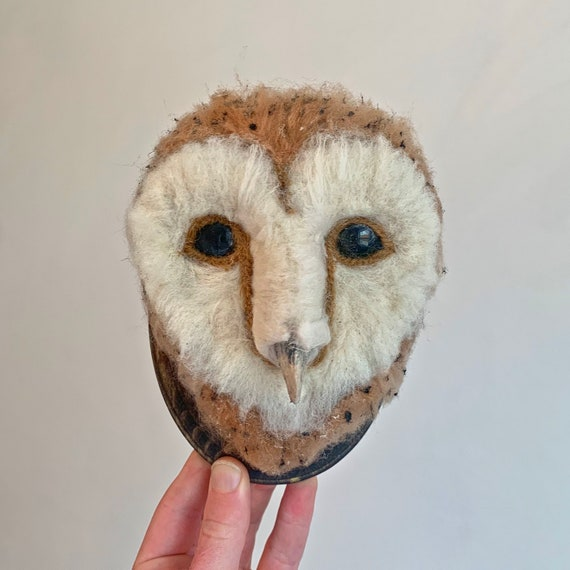 Wool Barn Owl Sculpture