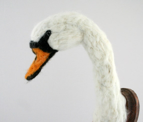 Faux Taxidermy Mute Swan (Cygnus olor)
