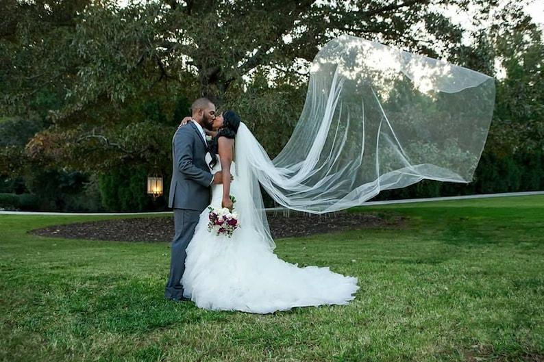 Bridal veil chapel veil cathedral veil floor length veil image 0