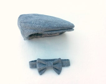 Newsboy hat and tie  044f176cb5d9