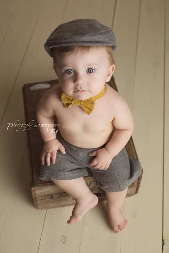 Baby Newsboy Hat Gray Baby Hat Ring Bearer Baby Boy Prop  90d4eeb9d80