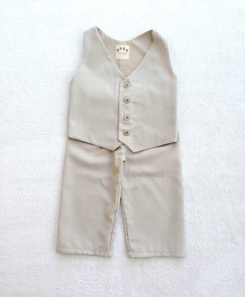 2cf7979e2 Ring Bearer Outfit Vest and Pants Ring Bearer Vintage