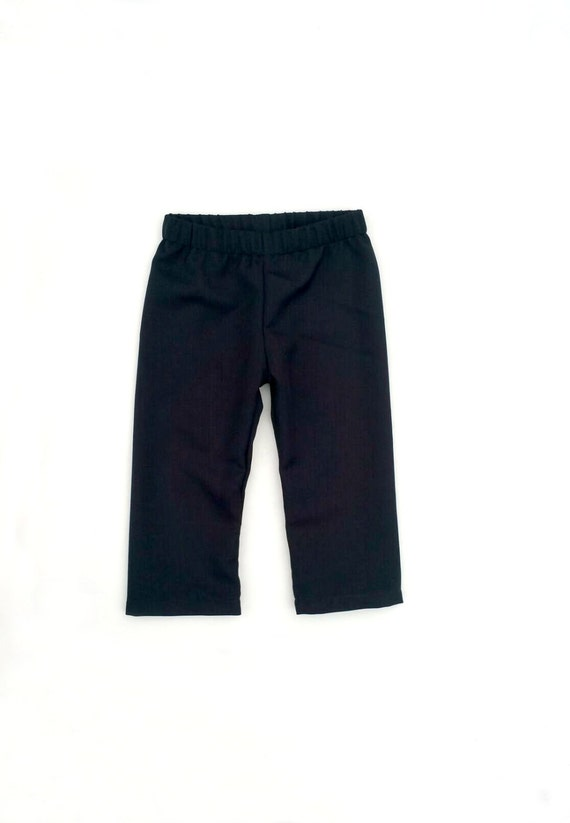 7efbfe876 Baby boy dress pants black dress pants ring bearer pants