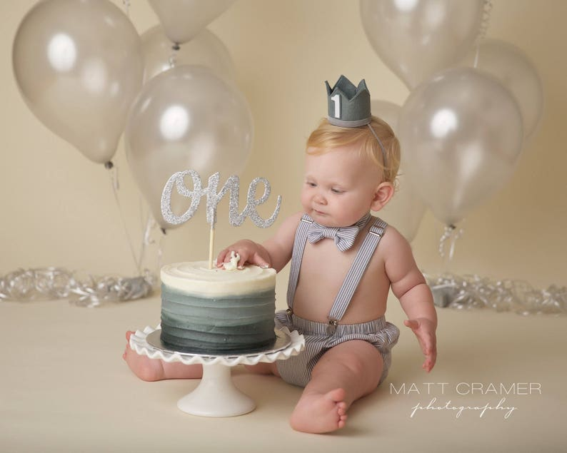 First Birthday Cake Smash Outfit Baby Boy