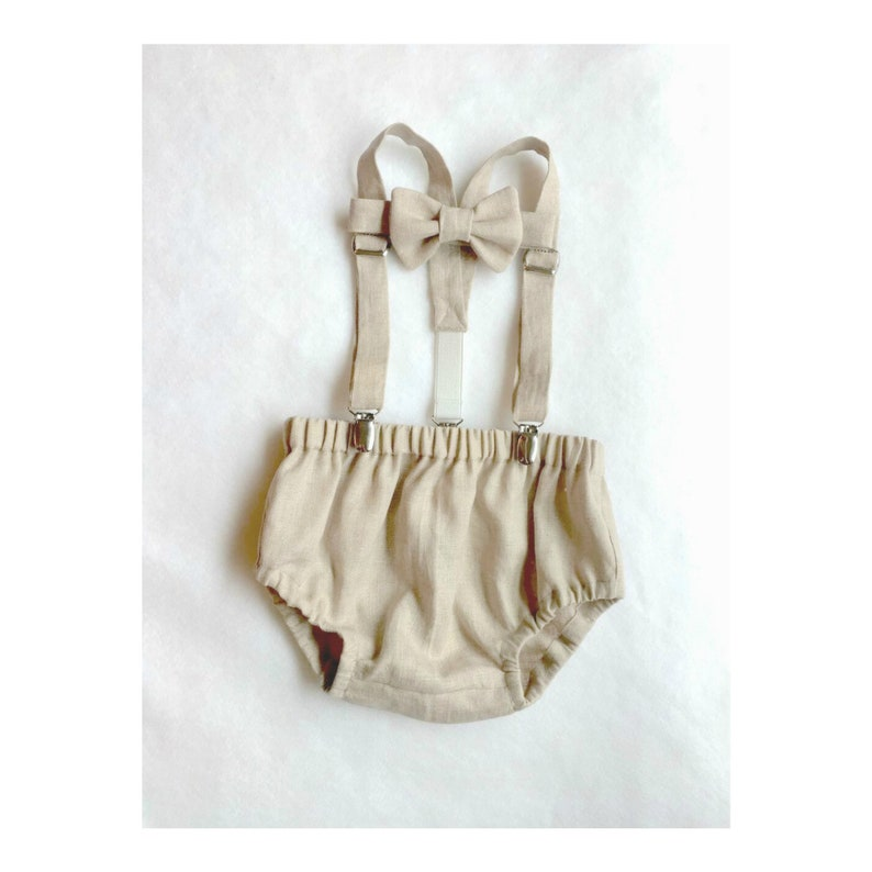 819290879 Linen Baby Clothes Baby Boy Photo Outfit Diaper Cover and