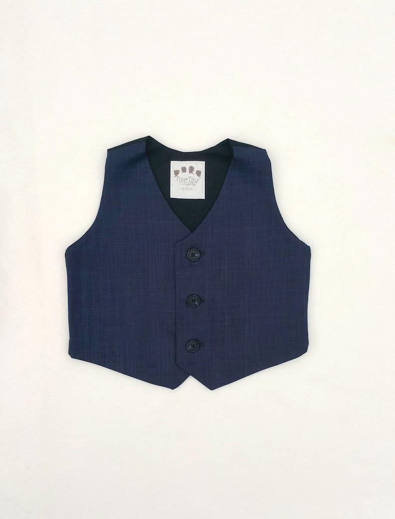 ae694d214 Navy Boys Vest, Dark Blue Baby Vest, Ring Bearer, Blue Vest, Navy Blue  Waistcoat, Navy Wedding, Navy Ring Bearer, Ring Bear, Mini Groom, Boy