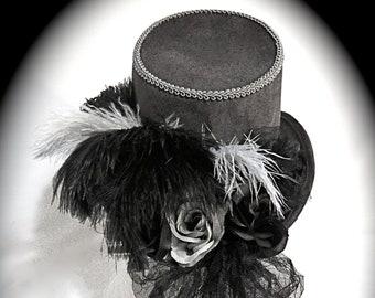 2ad063f6f32b5 Gray Ladies Victorian Riding Hat Women s Top Hats GO-109
