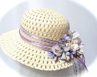 Girls Easter Bonnet Sun Hats Flower Girl Tea Party Hat GH-104 703b47ae6fdb