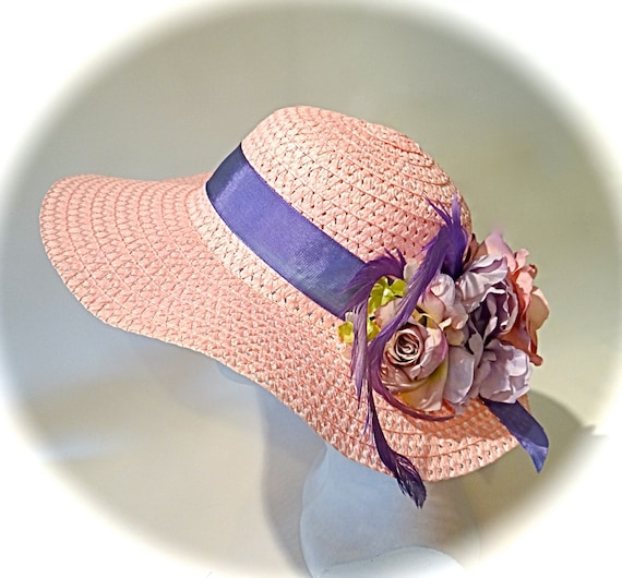 c761ac8f03a Pink Sun Hat Mother of the Bride Hats Tea Party Hat DH-143