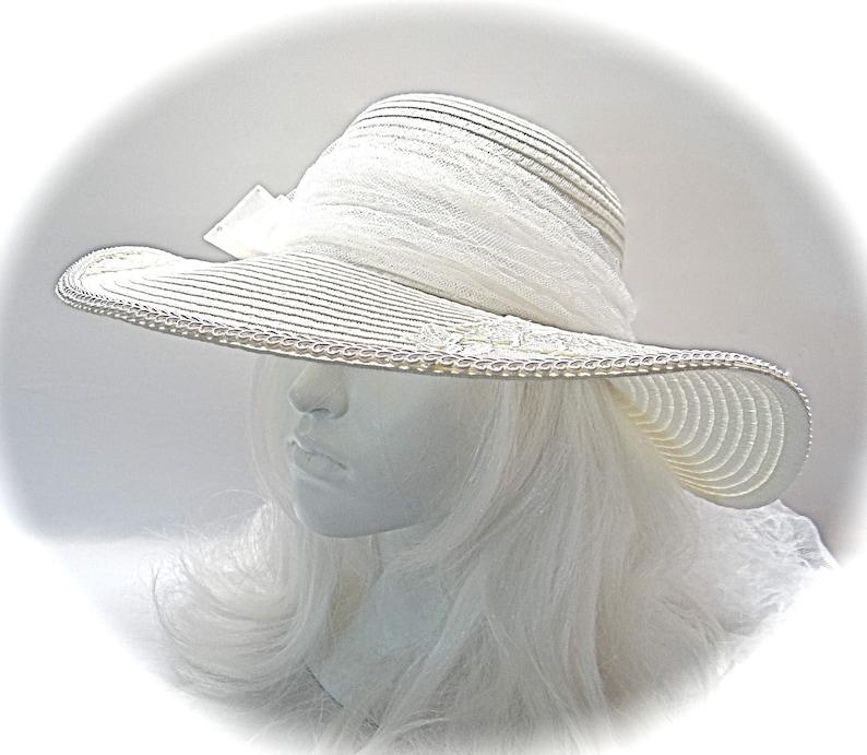 4d1611e10bc42 Lace Bridal Hat Wedding Accessories White Bridal Hat DH-145