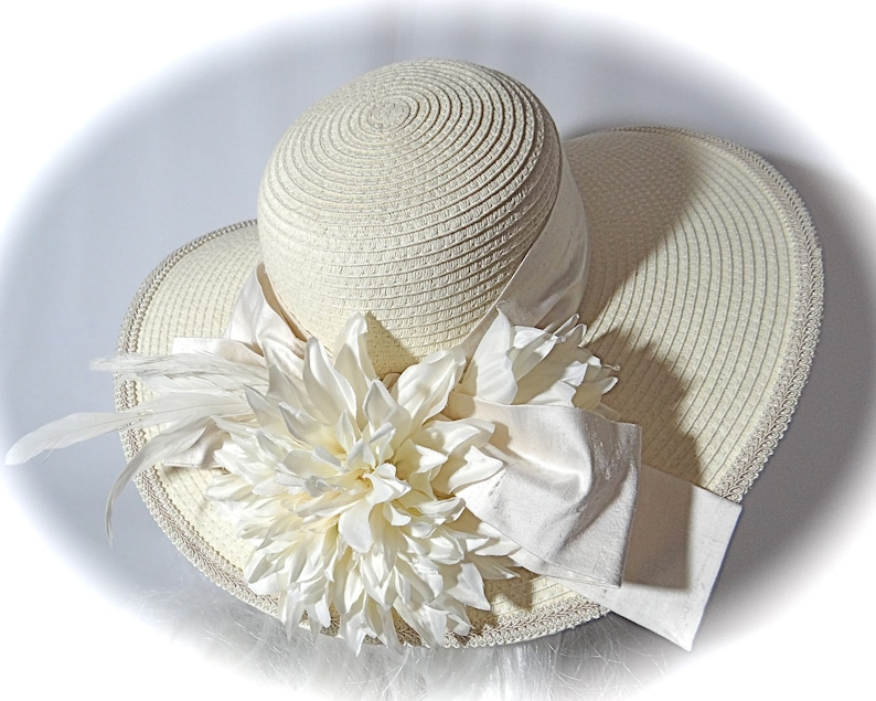 Cream Bridal Hat Church Hats Wedding Accessories Mother Of