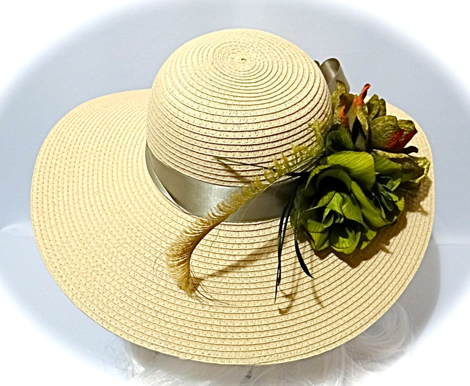 Olive Sun Hat Derby Hats Women's Hats Mother Of The Bride