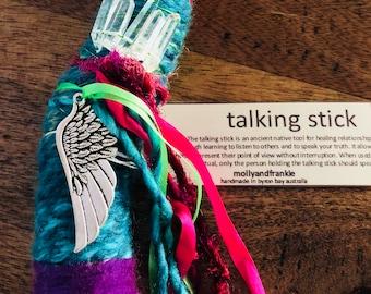 Angel Wing Talking Stick, Spirit Stick, Wand