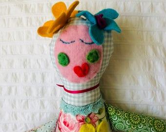 Handmade Doll Beautiful One Of A Kind Doll, Doll Softie DOLL1139