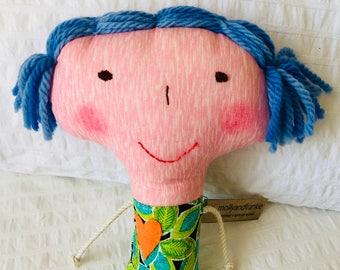 Handmade Doll Beautiful One Of A Kind Doll, Doll Softie DOLL1137