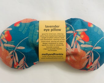 Lavender OR Chamomile and Organic Linseed Eye Pillow, Weighted Eye Pillow, Australian Native