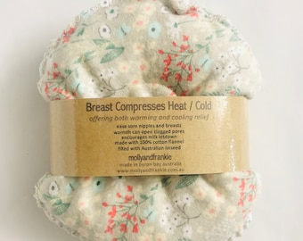 Breast Compress, Organic, Breast Heat / Cold pack, New Mum Gift, Breast Soother - Gentle Blooms