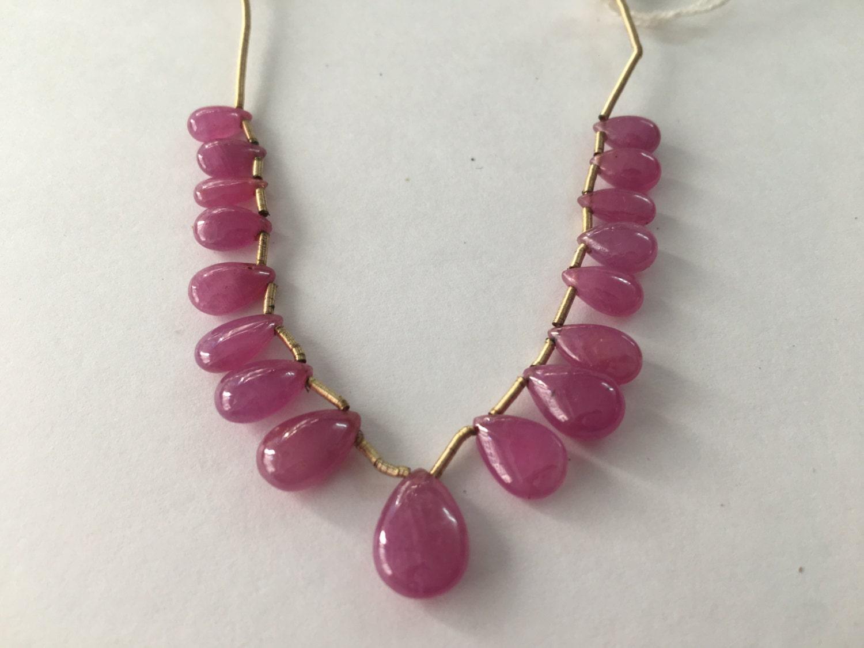 Poire de rubis naturel forme lisse poli poids 11,5 29,75 carats taille 5x7.5mm à 8,5 mm à 11,5 poids mm PC 17 rubis poire briolettes lisses poli 20da0f