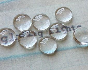 5 cristal cabuchons 40mm claro transparente redondo glascabochons ~ 40 x 8,5mm
