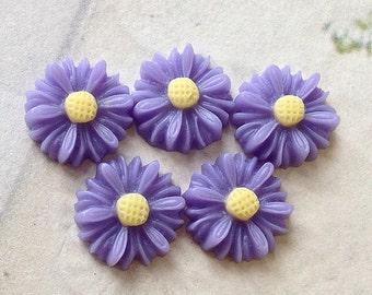 13 mm Lavender Colour Little Chrysanthemum Resin Flower (.sm)