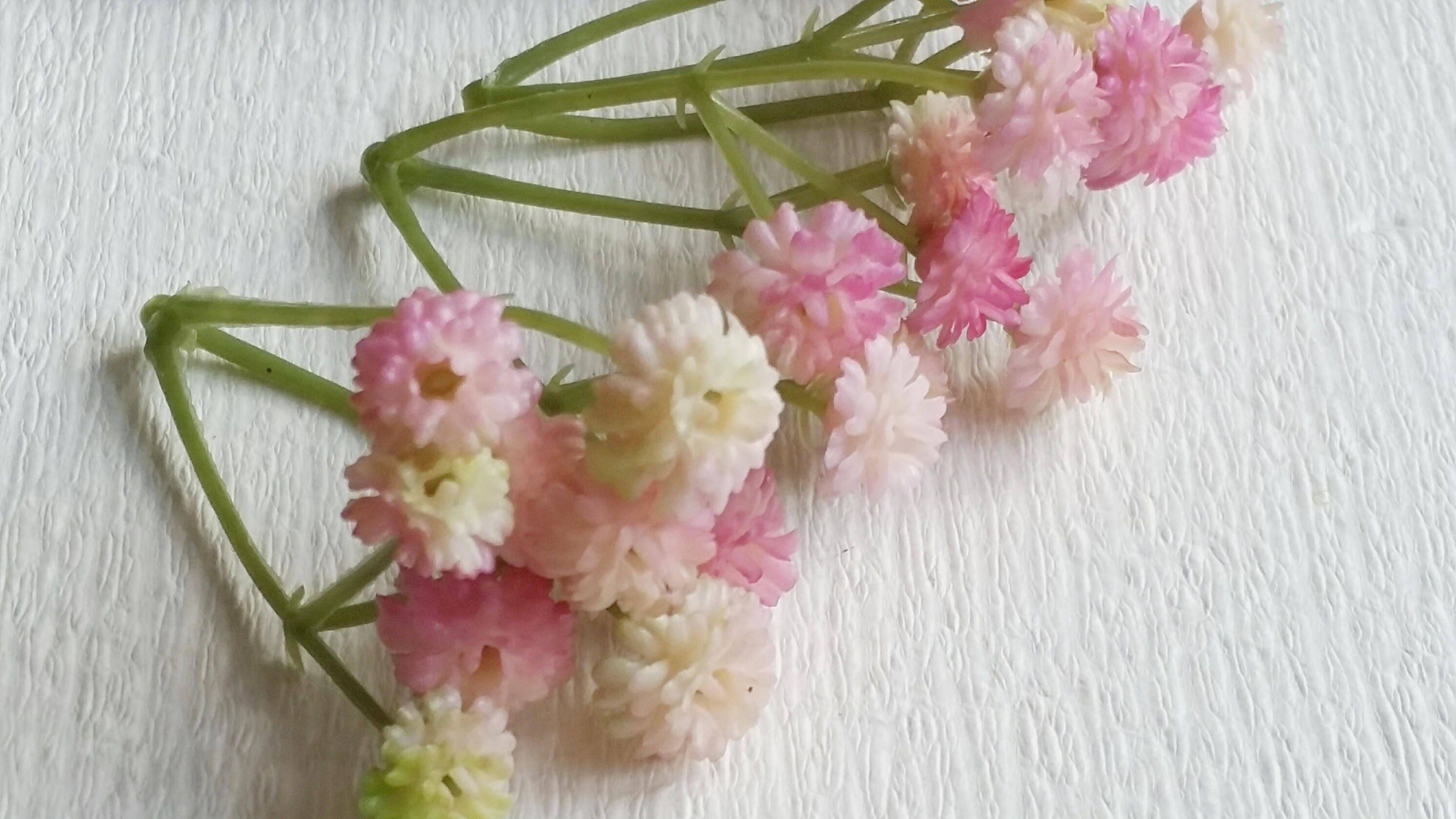 Light Pink Tiny Babys Breath Bush Plastic Gypsophila Etsy