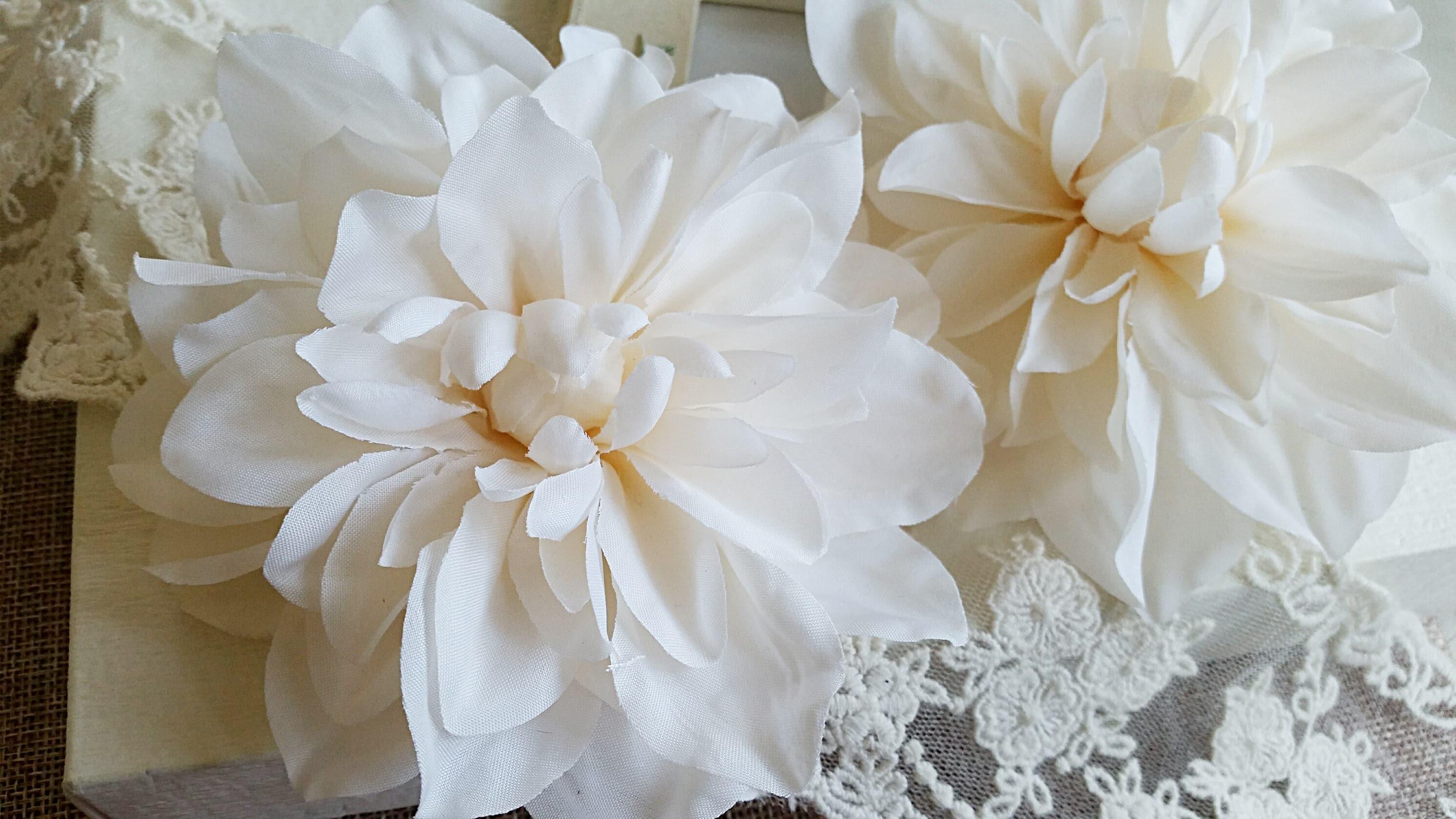 12 Cm Forest Series Dahlia Silk Flowerwedding Flower Wreath Etsy