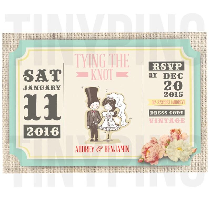 Vintage Flower Wedding Invitations Printable