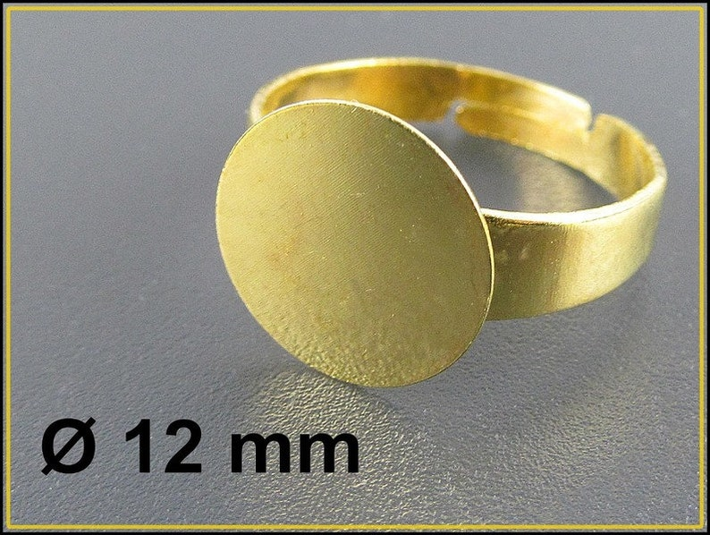 10 x Golden Ring Base Adjustable with Blank RZ29