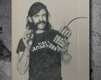 Lemmy - Original Art - 13 x 19