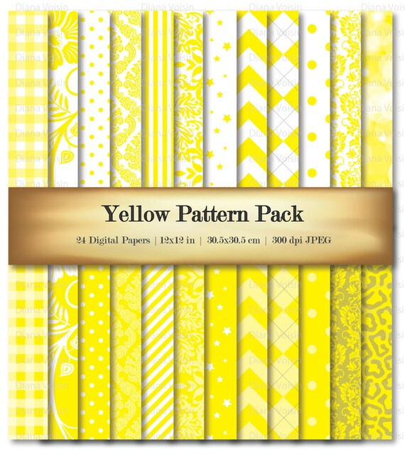 Yellow Digital Scrapbook Paper Digital Scrapbooking Paper Etsy