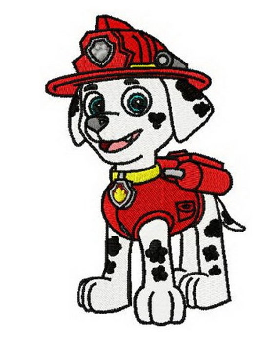 Paw Patrol Marshall Embroidered Iron On Patch