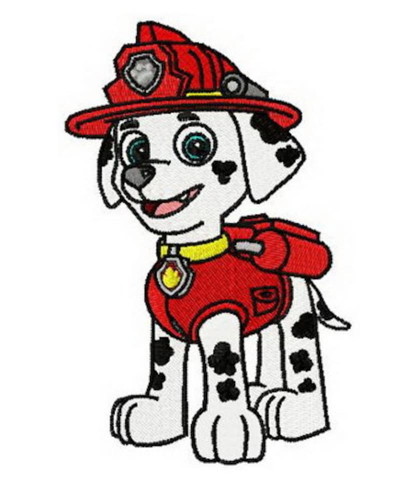 Paw Patrol Marshall Embroidered Iron On Patch Etsy