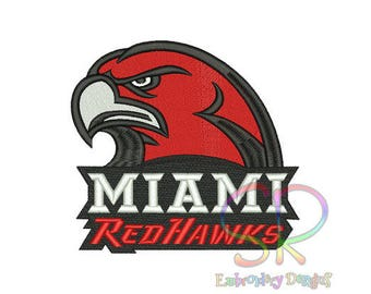 Miami Redhawks Embroidered Iron On Patch