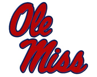 Ole Miss Rebels Embroidered Iron On Patch