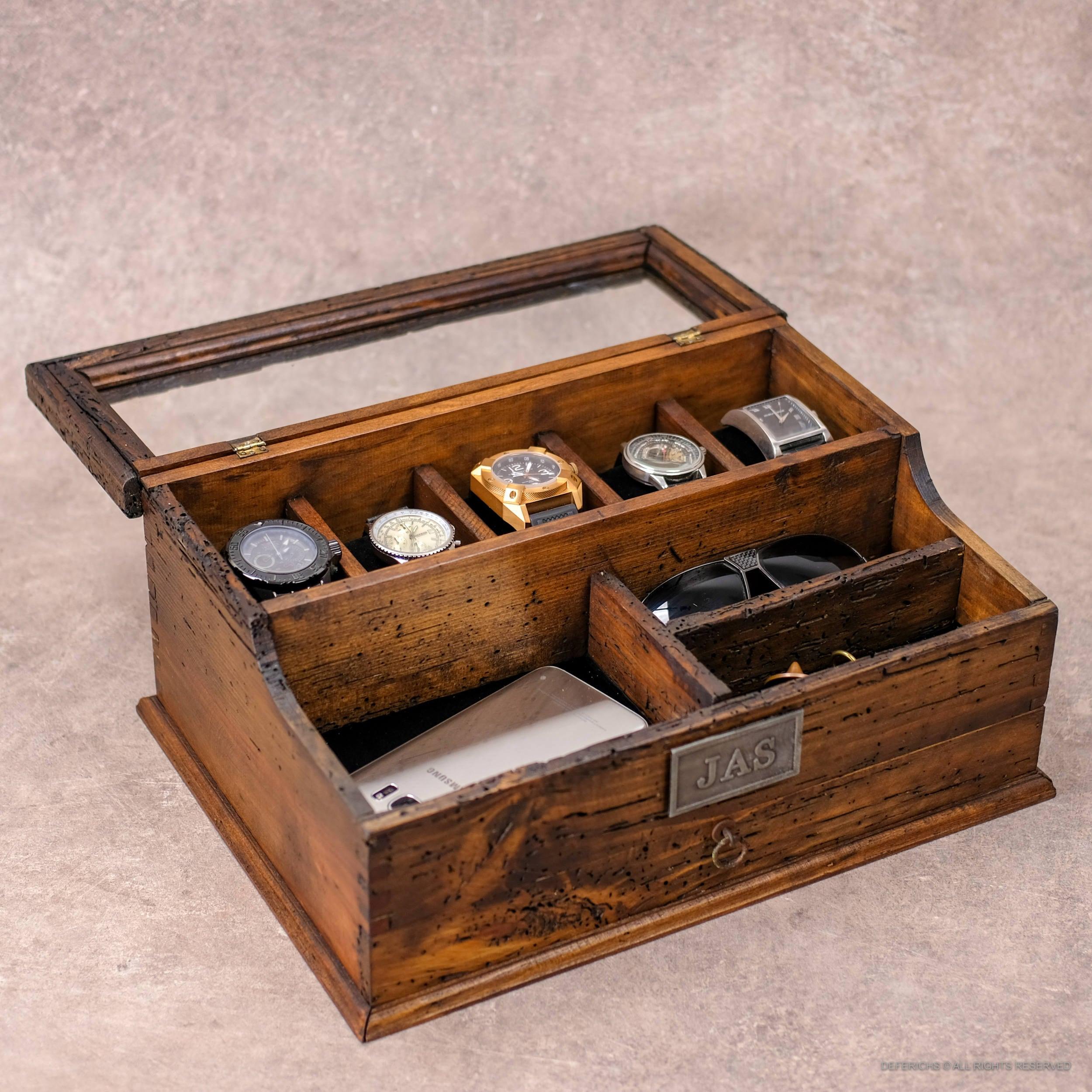 Men S Valet Watch Case Men S Watch Box Valet Box Etsy