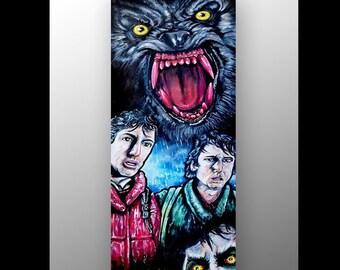 American Werewolf In London Painting | Horror Art | Horror Movie Memorabilia | Werewolf | Kessler Wolf Painting | Movie Decor | Gothic Art