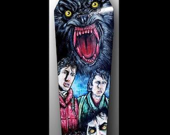 American Werewolf in London Art | Kessler Wolf | Halloween | Horror Movie Art | Werewolf Art | Skateboard Painting | Horror Movie Fan Art
