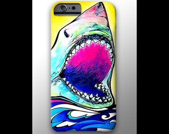 Great White Shark iPhone X Case Shark Week iPhone 11 Pro Shark Art Surfing Art Neon Phone Case Shark Phone Case Shark Galaxy Beachy Phone
