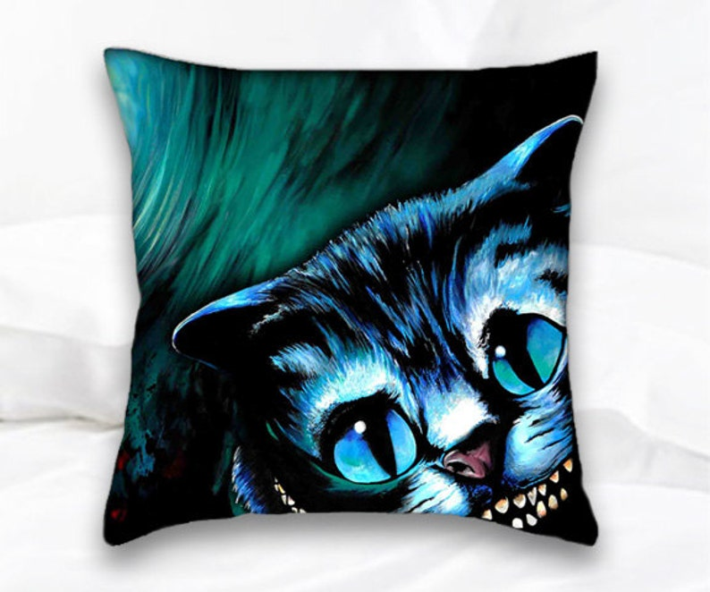 Cheshire Cat  Alice in Wonderland Pillow  Disney Decor  image 0