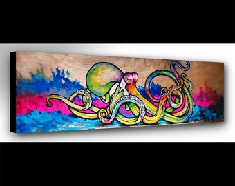 Octopus Wall Art | Octopus Art | Octopus Print | Octopus Painting | Animal Print | Octopus Decor | Surf Art | Ocean Decor | Nautical Decor