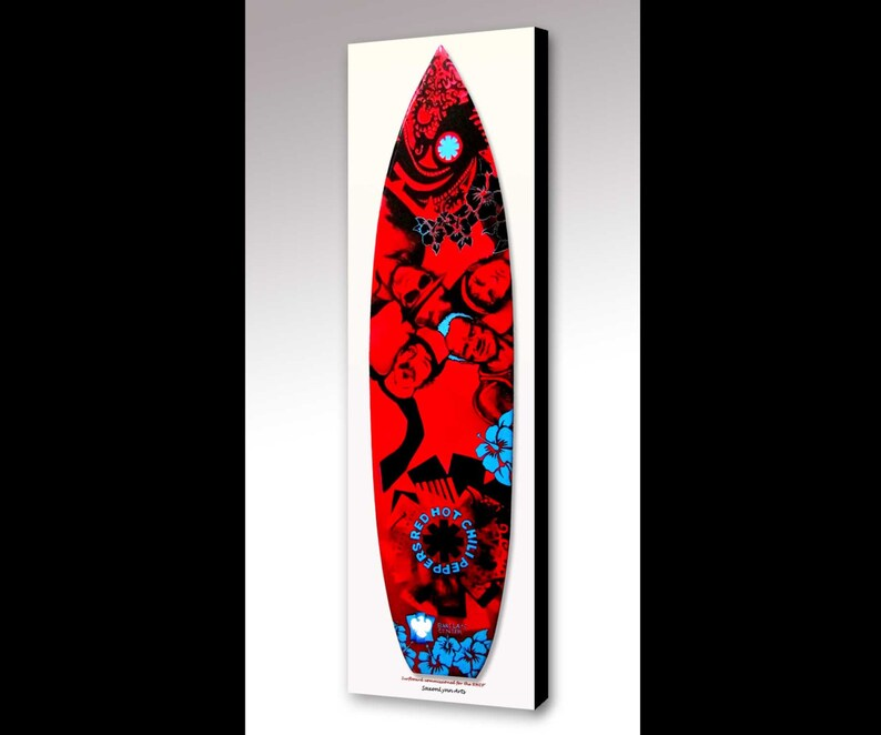 a3647bb223d9a Red Hot Chili Peppers Painting RHCP Celebrity Art Red