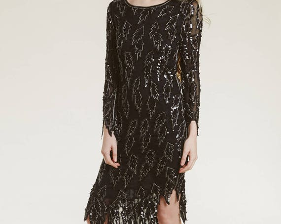 vintage deco beaded dress