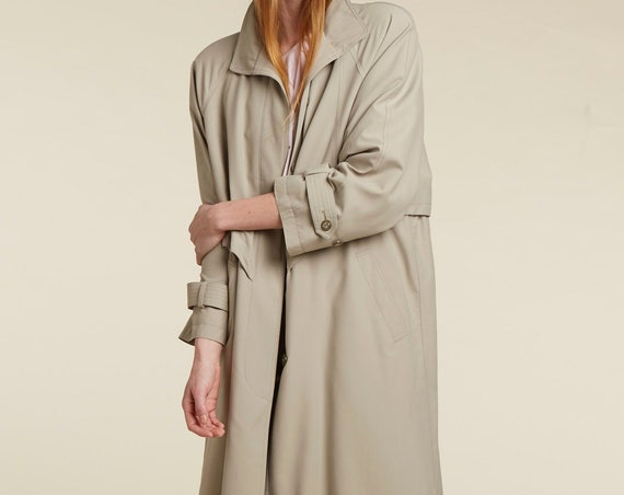 90s neutral trench coat