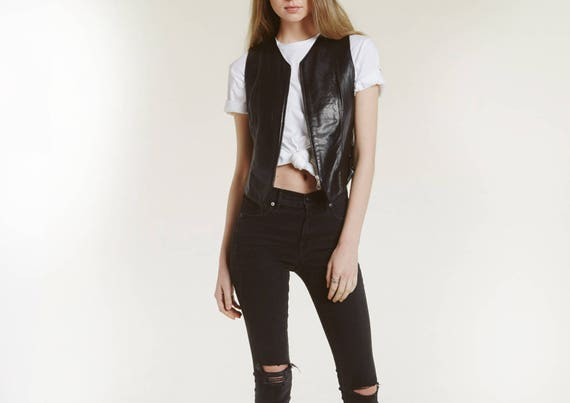 buttery soft 90s leather vest